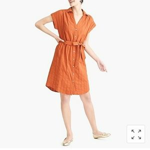 J Crew Factory button up tie waist dress